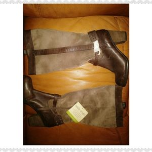 Naturalizer Wide Calf Leather/Suede Boot NWOT